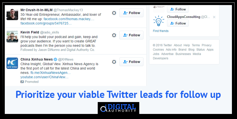 How to prioritize your Twitter leads for follow up