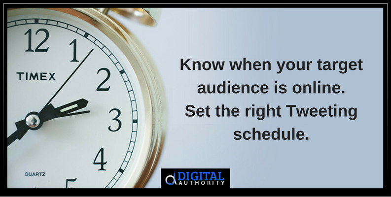 Set the right Tweeting schedule to get more Twitter leads