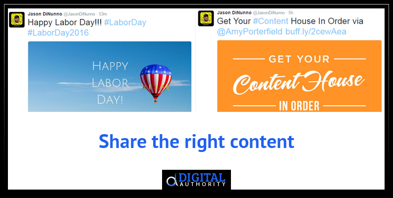Twitter Lead Rule - Sharing the right content