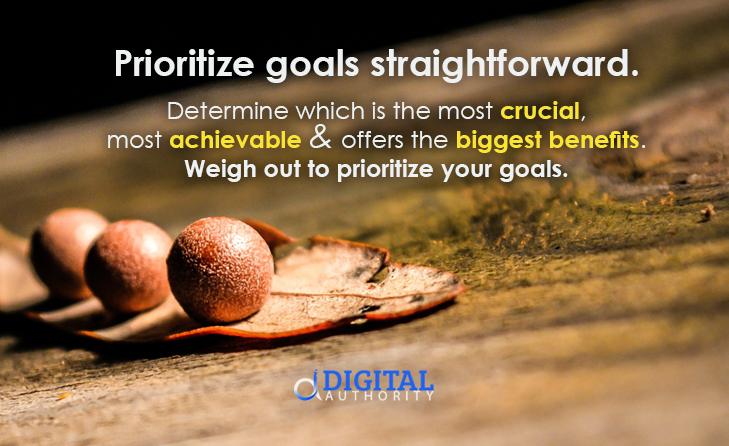 goal setting tips prioritize goals