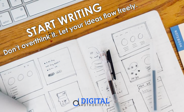how to find content idead - start writing
