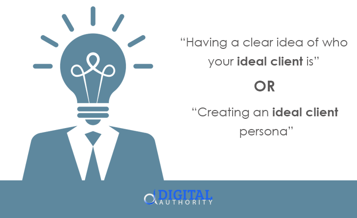 find ideal client online - create ideal client persona