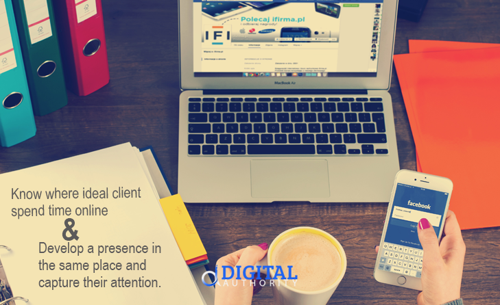 finde ideal client online - know where they spend time online