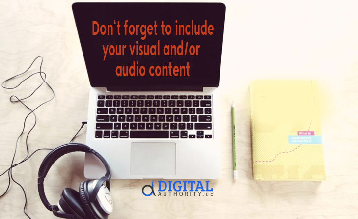 ontent Distribution & Syndication - Include video and audio content