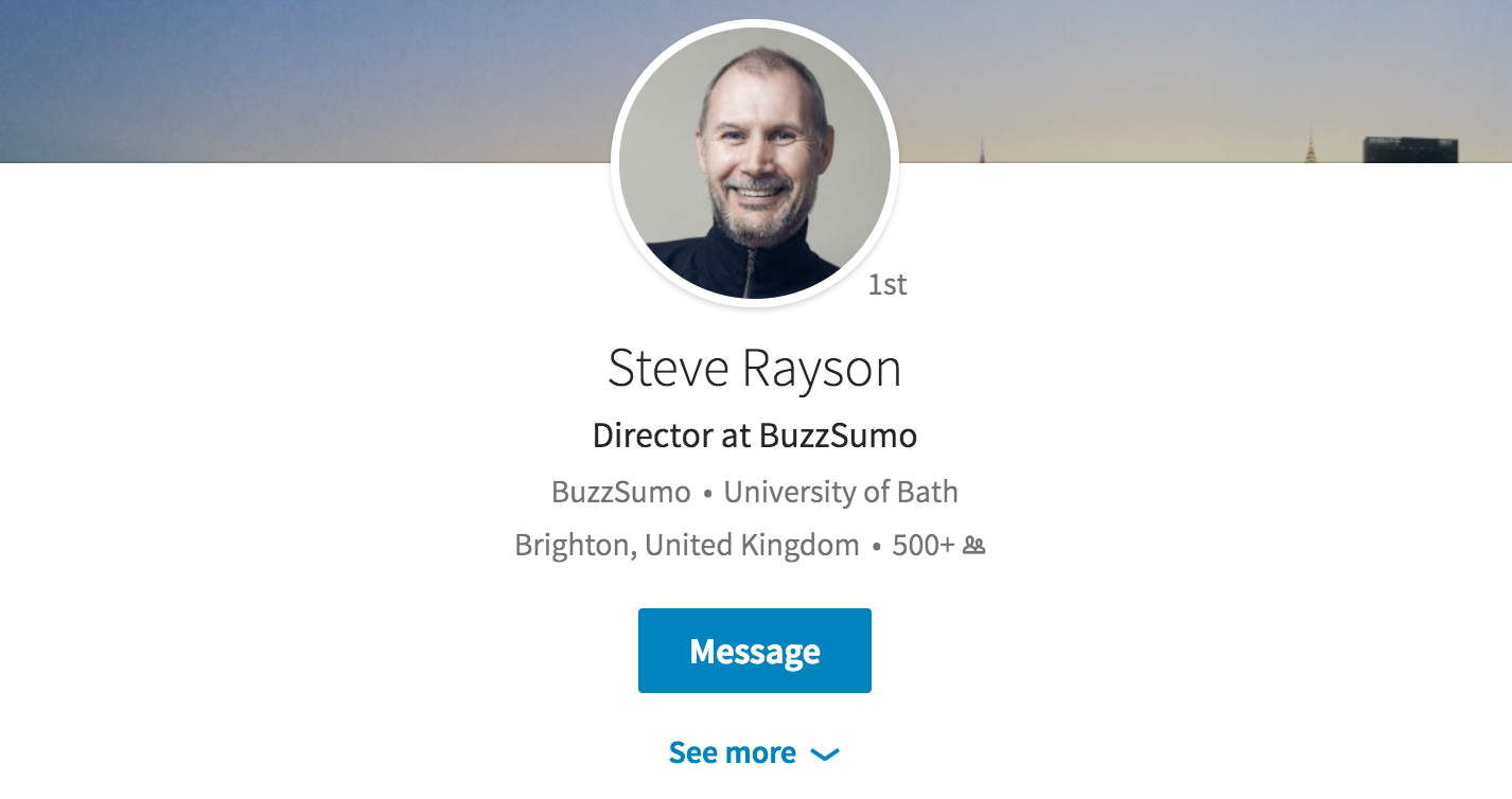 42 Content & Social Media Influencers - Steve Rayson