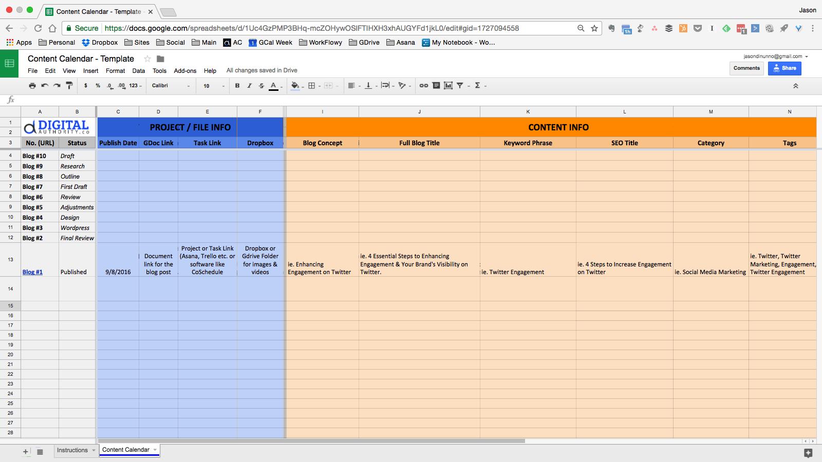 Content Calendar - Upgrade Screenshot