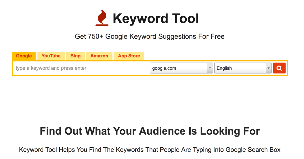 Content Marketing Tools 2017 - Keyword Tool