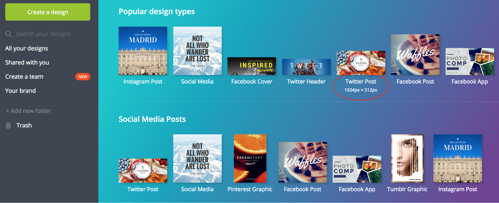 content marketing tools 2017 - canva
